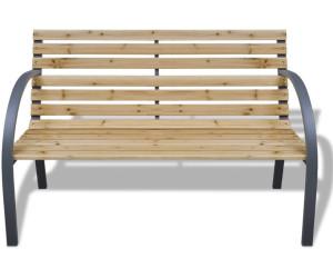 VidaXL Banc de jardin avec cadre en fer et lattes en bois (41014) au ...