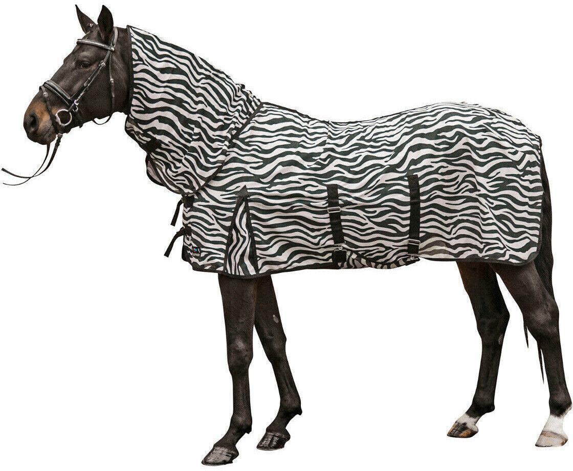 HKM Fly blanket with neck cover zebra 105 cm