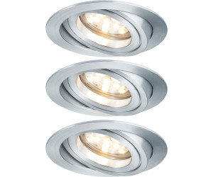 3 x Paulmann LED Einbaustrahler Set Premium schwenkbar Chrom 3 x 7W Modul Coin