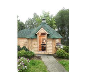 wolff grillkota 9 de luxe mit saunaanbau mit gr nen dachschindeln 376 x 600 cm ab. Black Bedroom Furniture Sets. Home Design Ideas