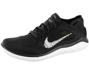 Nike Free Run Flyknit 2018 Laufschuhe Damen schwarz weiß