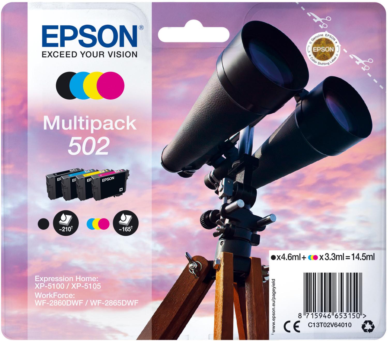 Epson 502 Multipack 4-farbig (C13T02V64010)