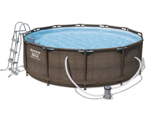 bestway frame pool power steel 366 x 100 cm ab 269 00 preisvergleich bei. Black Bedroom Furniture Sets. Home Design Ideas