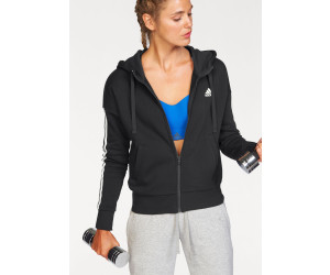 Adidas Essentials 3 Streifen Kapuzenjacke Frauen blackwhite