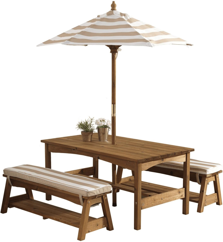 KidKraft Gartentischset mit Bank beige (00500)