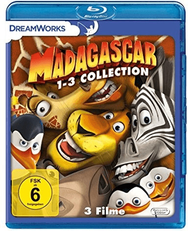 Madagascar 1-3 Collection [Blu-ray]