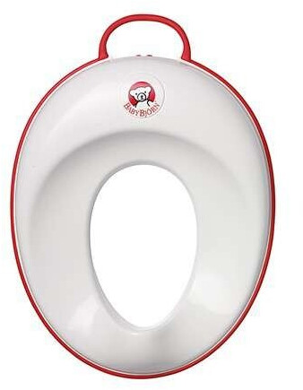 BabyBjörn Reductor de WC, Blanco y Rojo