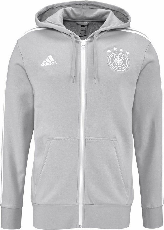 Adidas DFB 3S Kapuzenjacke WM 2018 grey two f17...