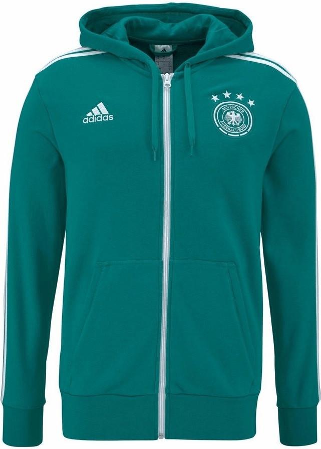 Adidas DFB 3S Kapuzenjacke WM 2018 eqt green/white