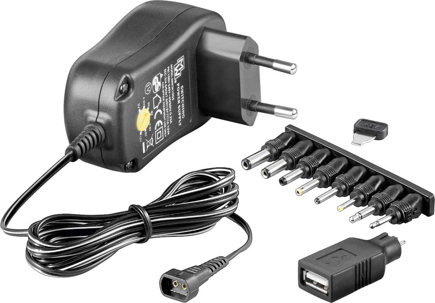 Image of Goobay 3-12V Universal-Charger 1,0A