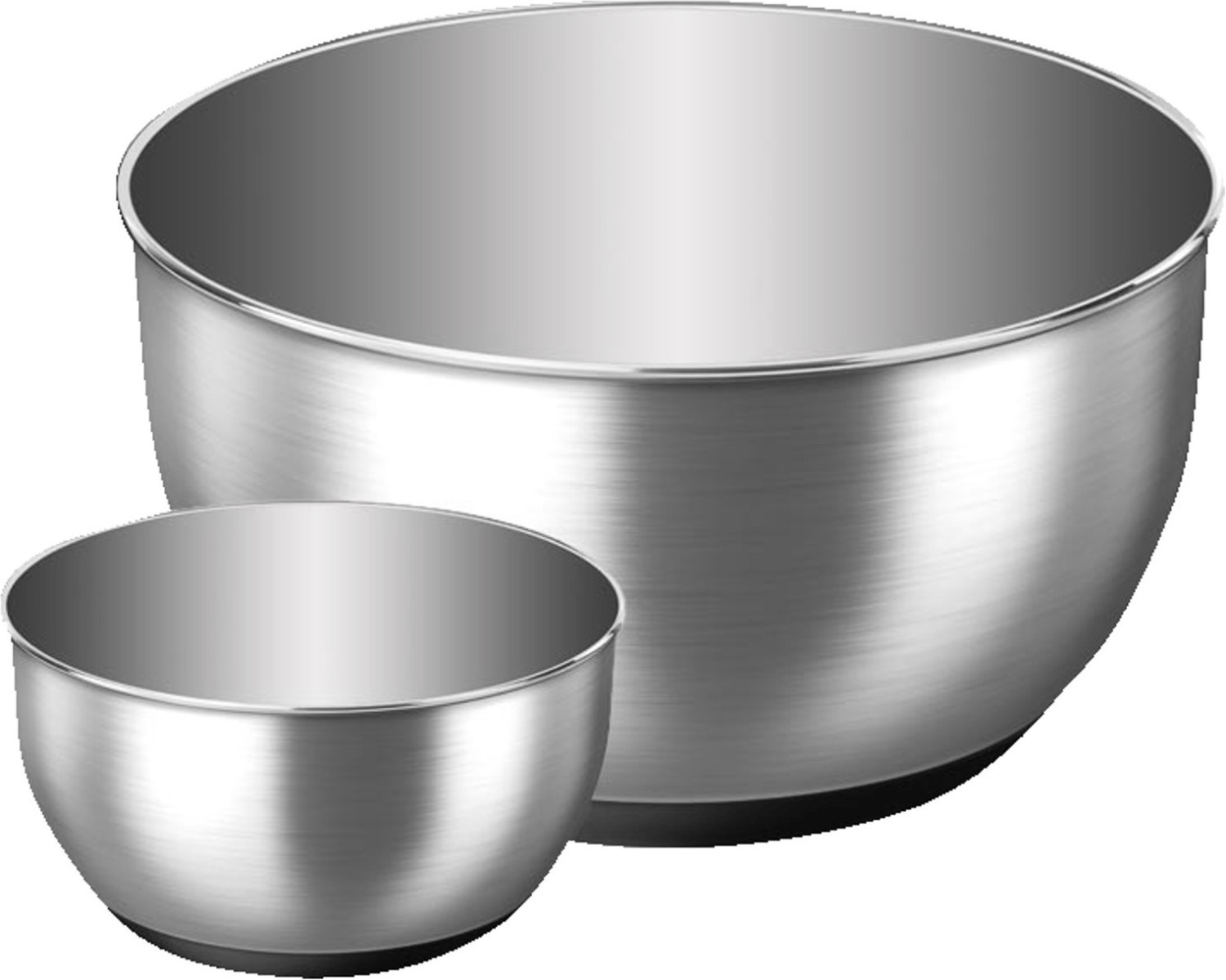 Image of Emsa Accenta Salad Bowl-Set 2-pieces stainless steel