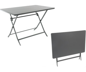 hesp ride table pliante 4 personnes greensboro ardoise au meilleur prix sur. Black Bedroom Furniture Sets. Home Design Ideas