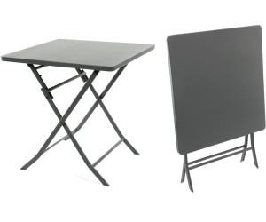 Hesp ride table pliante 2 personnes greensboro ardoise au meilleur prix sur for Table pliante 2 personnes
