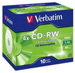 Verbatim CD-RW 700MB 80min 4x Scratch Resistant...