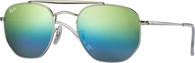 RAY BAN THE MARSHAL 3648 003 I2 ARGENTO SFUMATO SPECCHIATO BLU 003I2 Sunglasses