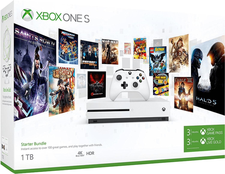 Image of Microsoft Xbox One S 1TB Bundle Starter - 3 Mesi Xbox Game Pass + 3 Mesi Xbox Live Gold