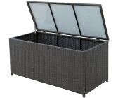 Outsunny Polyrattan Auflagenbox Gartenbox Metall Grau 865 003