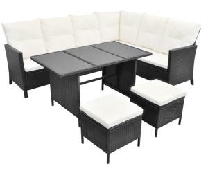 Vidaxl Lounge Set Essgruppe 8 Personen Poly Rattan Schwarz 43096