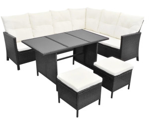 vidaxl lounge set essgruppe 8 personen poly rattan schwarz. Black Bedroom Furniture Sets. Home Design Ideas