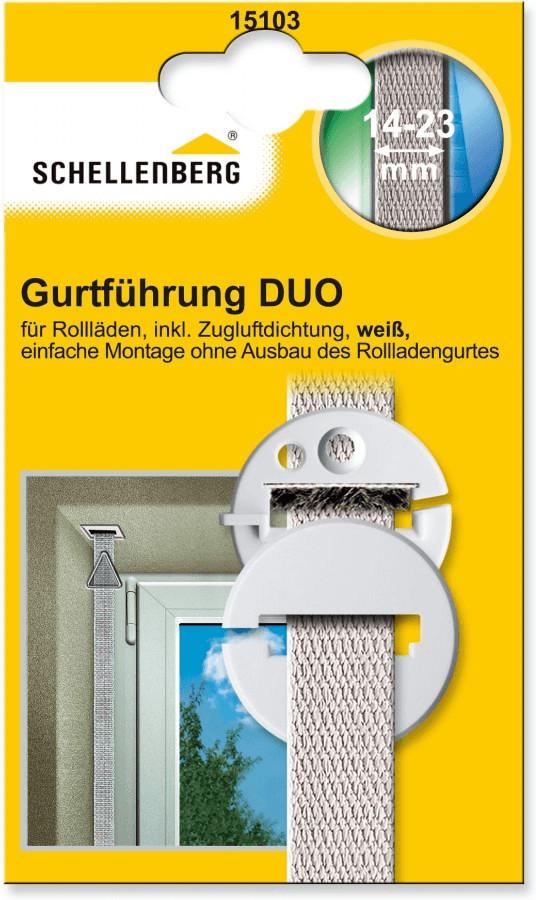 Schellenberg Duo Gurtführung weiß (15103)