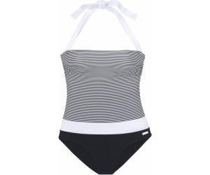 finest selection ce2e1 4b5e4 Lascana Bandeau-Badeanzug schwarz-weiß (10052219269) ab 44 ...
