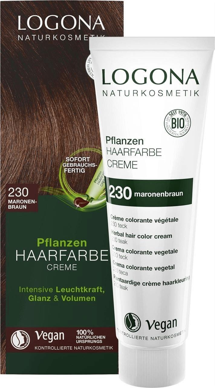 Logona Pflanzen Haarfarbe Creme 230 maronenbraun (150ml)
