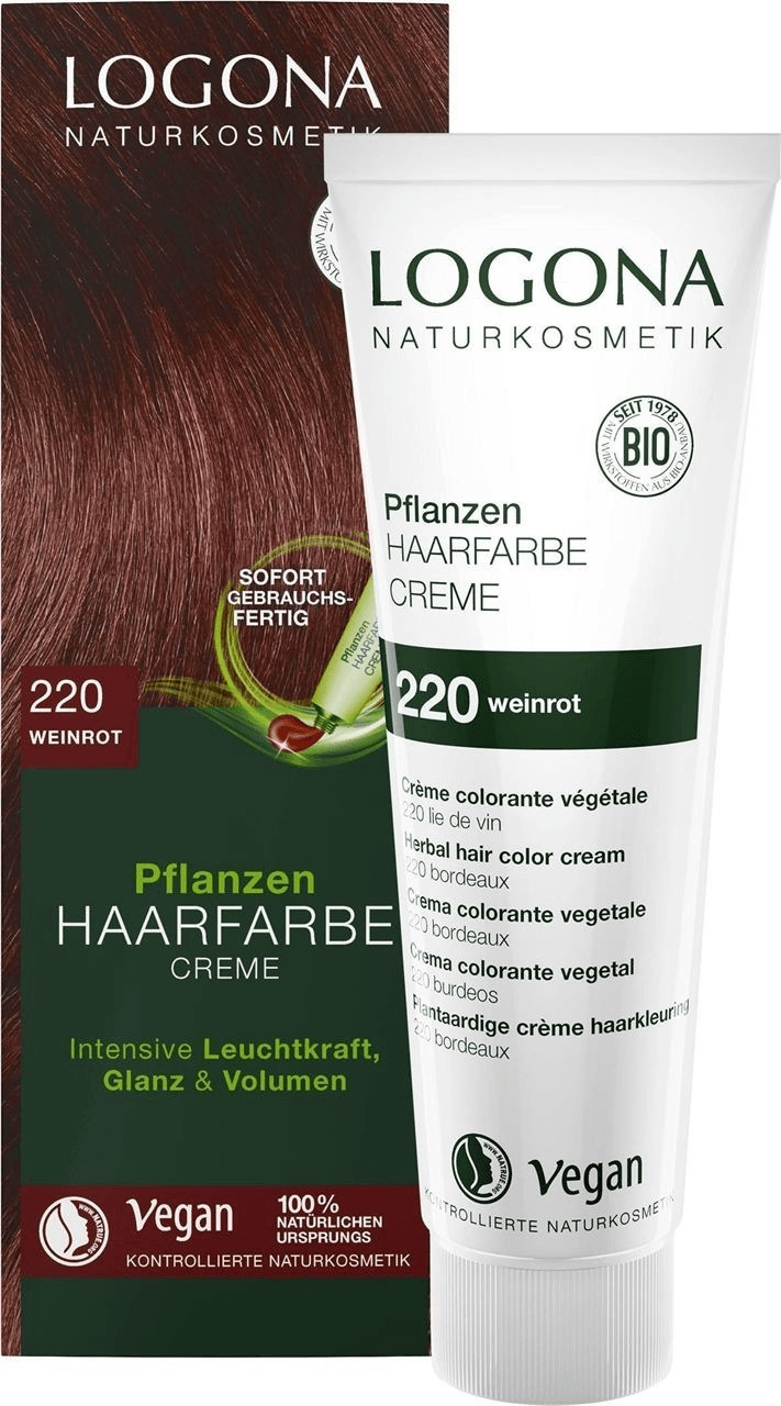 Logona Pflanzen Haarfarbe Creme 220 weinrot (150ml)