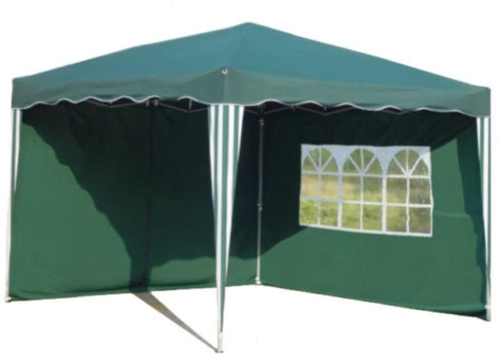 Kronenburg Faltpavillon 3 x 3 m (2 Seitenteile) grün
