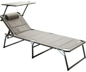 Meerweh Aluminium Gartenliege XXL Mit Dach 740