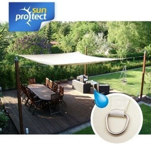 sunprotect 83291 Professional Sonnensegel 5 x 5 x 7 m wind 90° Grad Dreieck