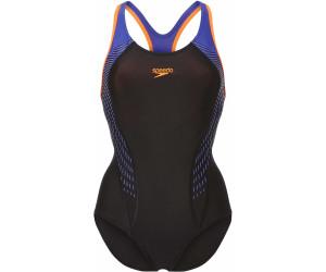 c9f61b7cb9704b Speedo Fit Laneback Badeanzug schwarz/orange (811389C140) ab 23,25 ...