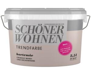 Schoner Wohnen Trendfarbe Matt 2 5 L Hortensie Ab 23 99 Preisvergleich Bei Idealo De