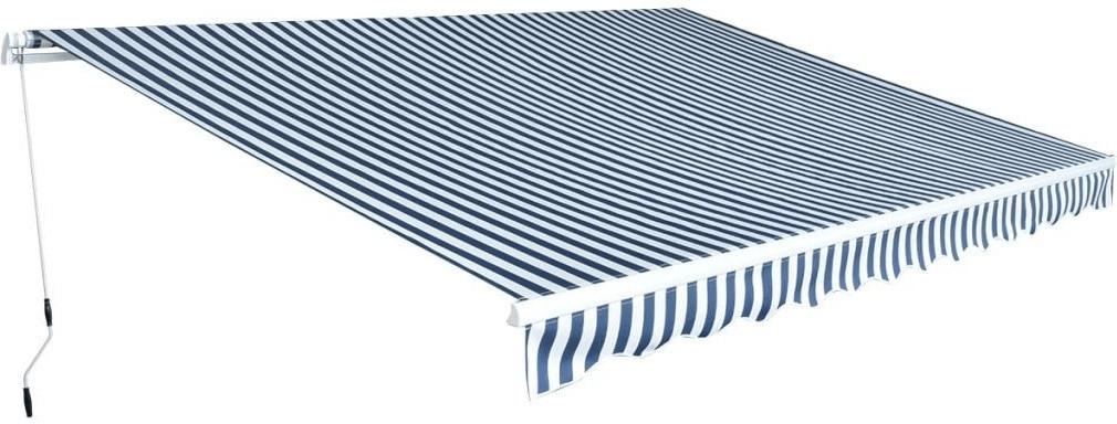 VidaXL Faltmarkise 4,5 x 3 m blau-weiß