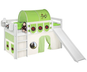 Etagenbett Jelle : Lilokids spielbett jelle mit rutsche und vorhang dragon green weiß