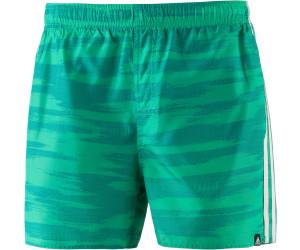 Adidas 3-Streifen Allover Badeshorts eqt green/white (CV5143 ...
