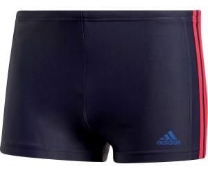 80e95f5befac1 Adidas Essence Core 3-Streifen Boxer-Badehose legend ink/hi-res red (CW4821)
