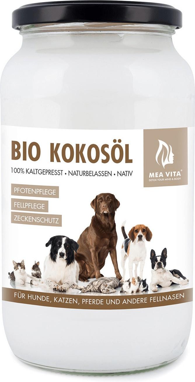 MeaVita Bio Kokosöl für Tiere nativ im Glas 1000ml