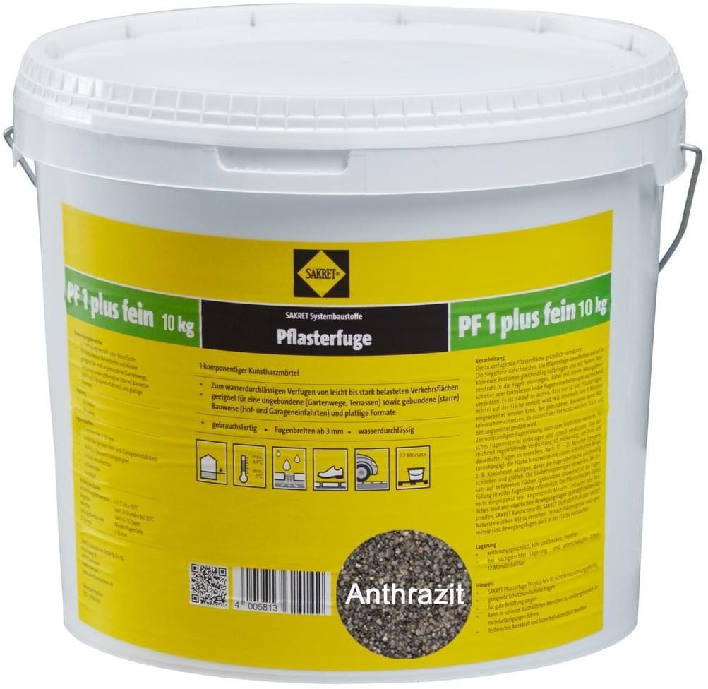 Sakret PF1 Plus Fein 10 kg anthrazit
