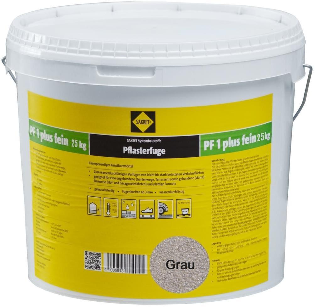 Sakret PF1 Plus Fein 25 kg grau