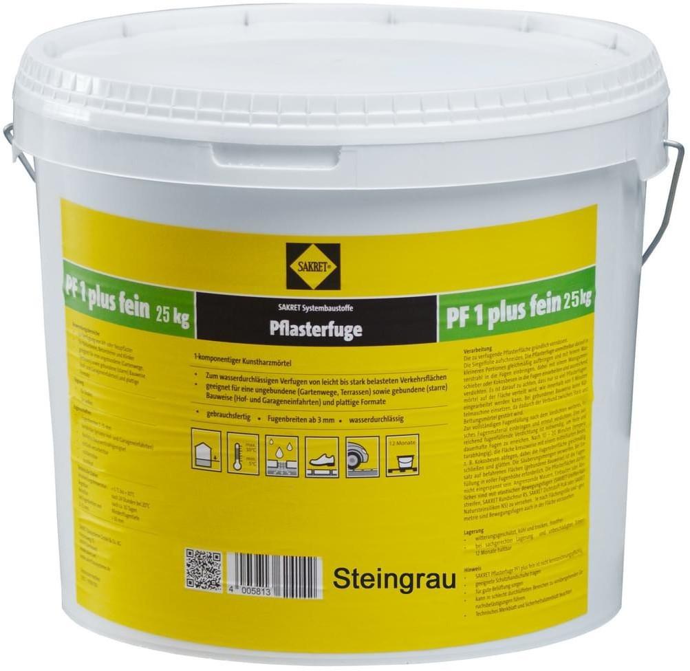 Sakret PF1 Plus Fein 25 kg steingrau