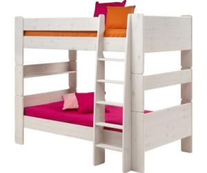 Etagenbett Weiß Preisvergleich : Steens etagenbett kimba mit leiter kiefer weiß ab