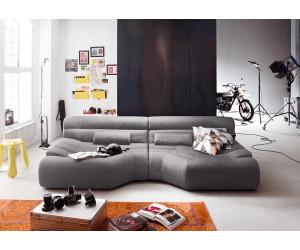 Kasper Wohndesign Tara Big Sofa Stoff Hellgrau Mit Kissen