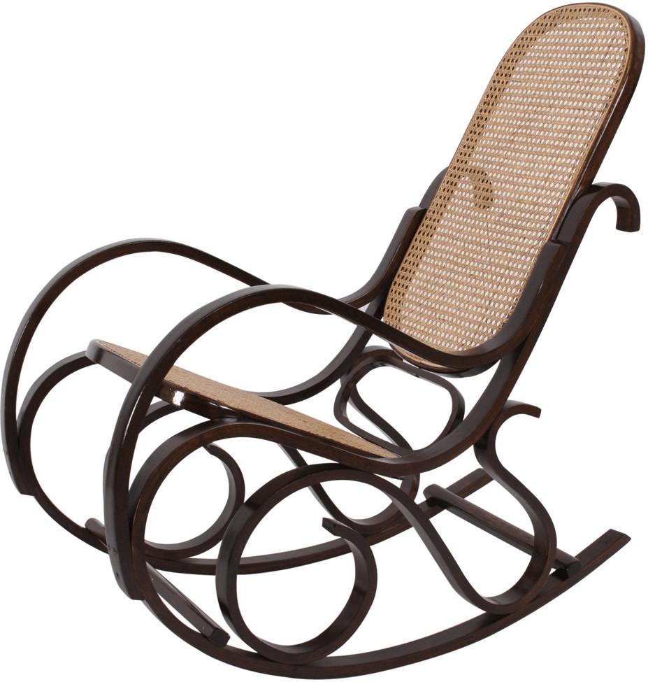 Mendler Schwingsessel M41 Walnuss Rattan   Wohnzimmer > Sessel > Schwingsessel