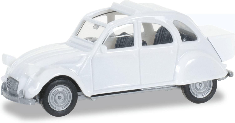 Herpa Citroën 2 CV mit Queue (weiß)