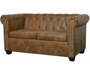 vidaxl chesterfield sofa 2 sitzer kunstleder braun 243619 ab 210 99 preisvergleich bei. Black Bedroom Furniture Sets. Home Design Ideas