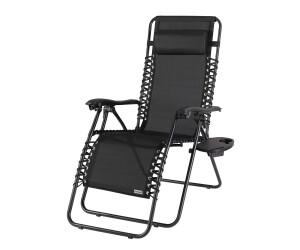 Deuba 880703 klappbarer Liegestuhl Gartenhochlehner schwarz