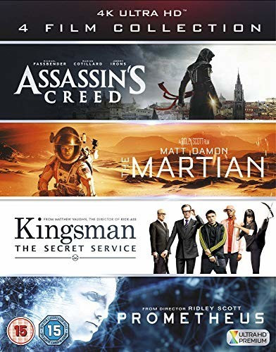 Image of 4K Film Collection: Assassin's Creed / The Martian / Kingsman / Prometheus (4K) [Blu-ray]
