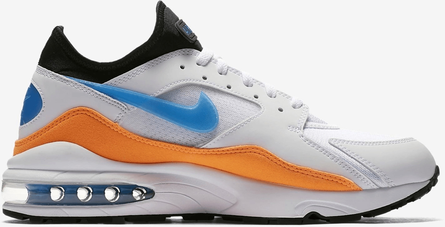 71feae3250e Nike Air Max 93 white total orange black blue nebula. à partir de ...