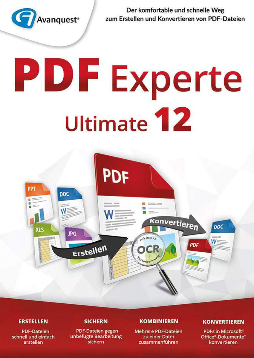 Image of Avanquest eXpert PDF 12 Ultimate