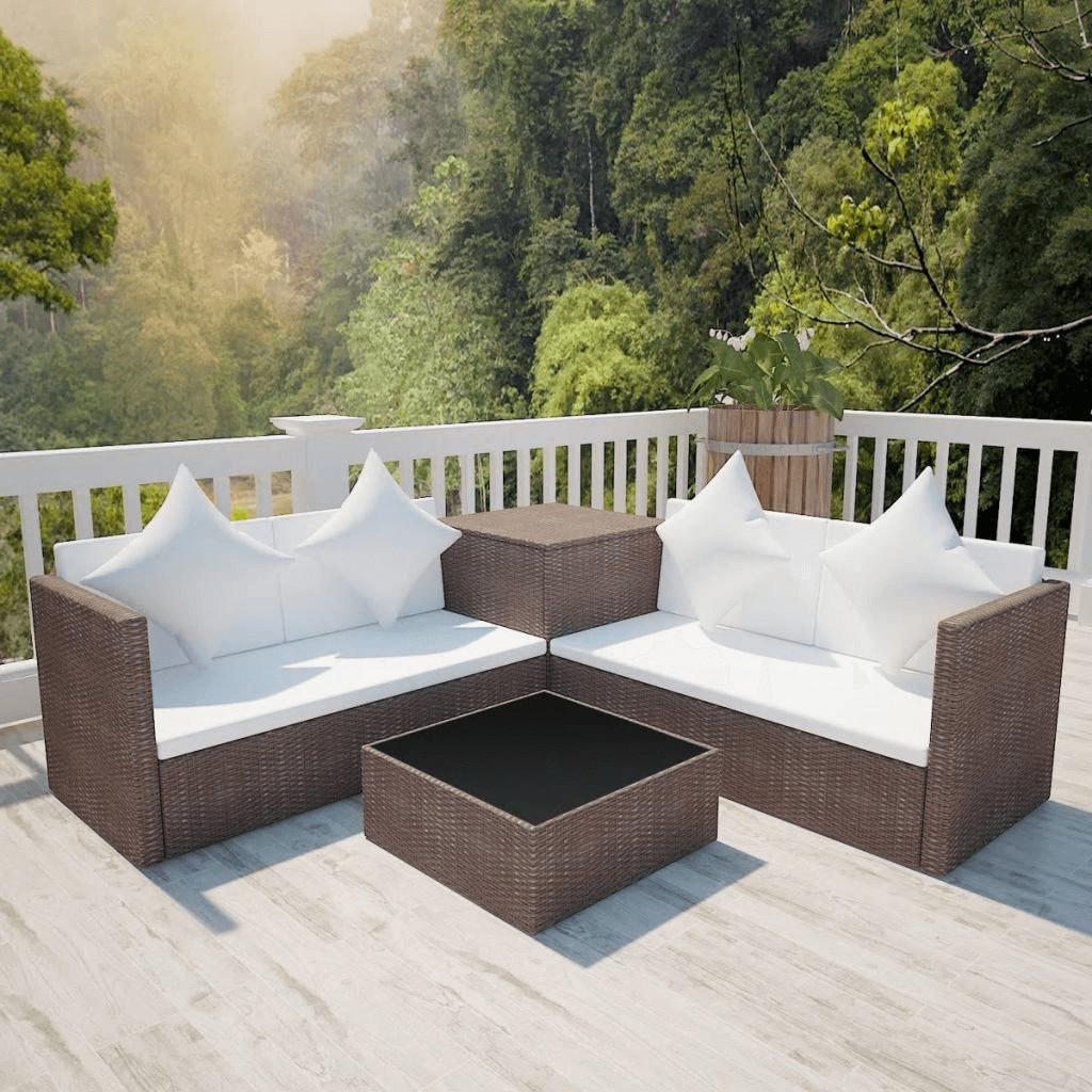 Wasserdicht Rattan Ecksofa Abdeckung Outdoor L-Form Sofa Schutzhülle Möbelbezug